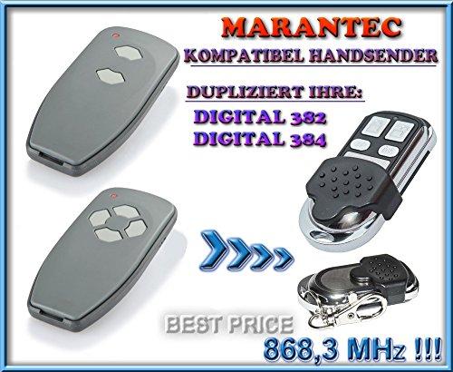 Marantec Digital 382-868 / Digital 384-868 kompatibel handsender, klone fernbedienung, 4-kanal 868.3Mhz fixed code. Top Qualität Kopiergerät!!!