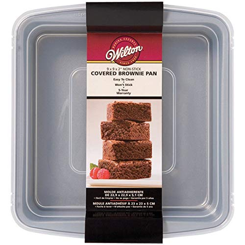 Wilton Industries 2105 – 9199 9 x 22,9 cm Covered brownie pan