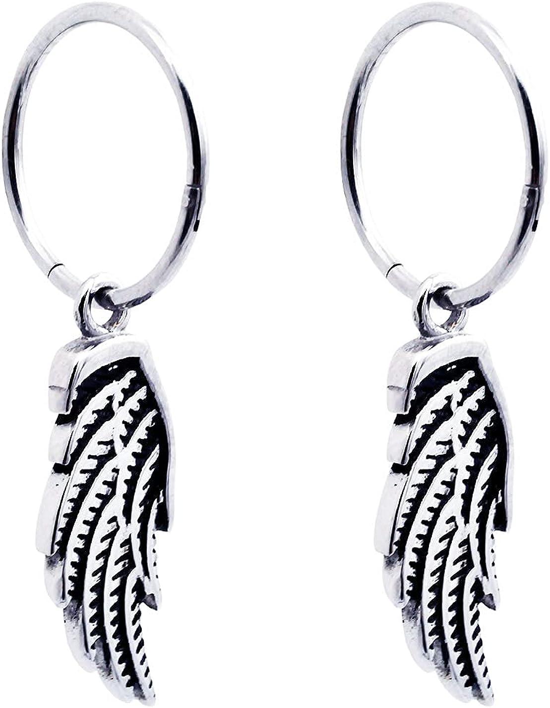 Fort Worth Mall Blackjack Jewelry Mens Ranking TOP14 Stainless Steel Earrings Wings