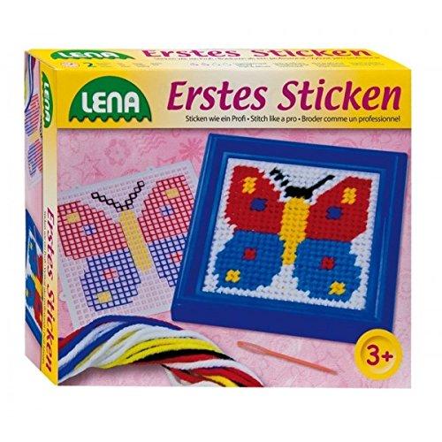 Lena Erstes Sticken Schmetterling