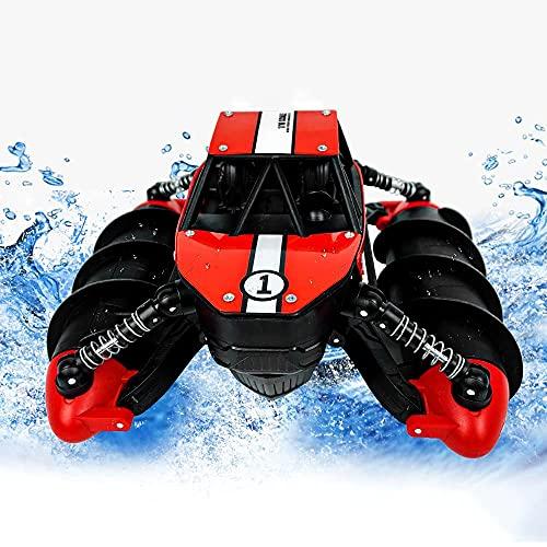 QHYZRV Coche de juguete a control remoto, Barco a control remoto, Vehículo anfibio de juguete, Coche de acrobacias a control remoto, Juguete acuático para la piscina de la playa, Barco RC, Impermeable