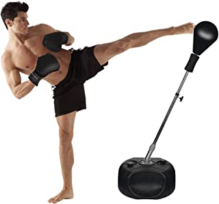 Protocol Boxing Ball Set with Punching Bag, Boxing Gloves, & Adjustable Height Stand..