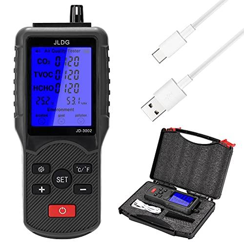 Meroteen Probador de calidad del aire multifuncional Medidor de CO2 TVOC Dispositivo de medición de temperatura y humedad