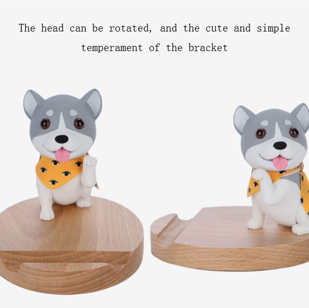 Zxb-shop Creative Puppy Shape Mobile Phone Holder Desktop Mobile Phone Rack Lazy Office Live Mobile Phone Holder Color : C