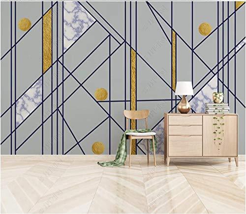 Fototapete 3D Effekt Tapete Geometrischer Kunstmusterhintergrund 250X175Cm Fototapete Vlies Tapeten Wand Wallpaper Dekoration