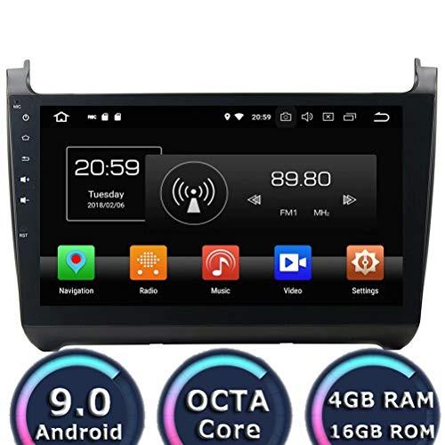 ROADYAKO 10.1 Pouces Android 8.1 Quad Core Auto Pièces pour VW Polo 2015 2016 Auto Radio Stéréo Navigation GPS 3G WiFi Miroir Lien RDS FM AM Bluetooth Suport Caméra de Vue Arrière