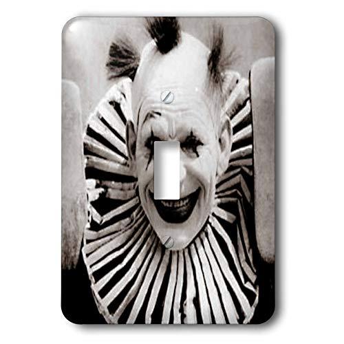 3dRose Magic Lantern Slide Scary Vintage Creepy Clown Halloween - Light Switch Covers (lsp_334976_1)