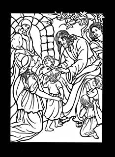 The Life of Jesus Stained Glass Coloring Book (Dover Stained Glass Coloring Book) by Marty Noble (27-Jan-2006) Paperback