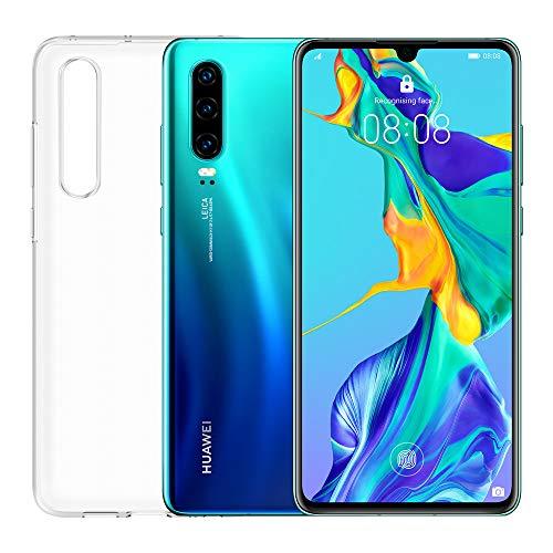 """HUAWEI P30 Smartphone e Cover, 6 GB RAM, Memoria 128 GB, Display 6.1"""" FHD+, CPU Kirin 980, Tripla Fotocamera Posteriore 40+16+8 MP, Fotocamera Anteriore da 32 MP, Aurora"""