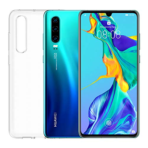 """Huawei P30 (Aurora) plus transparent cover, 6GB RAM, 128 GB memory, 6.1 Display """"FHD +, Triple rear camera from 40 + 16 + 8 Mpx, front camera 32 Mpx"""