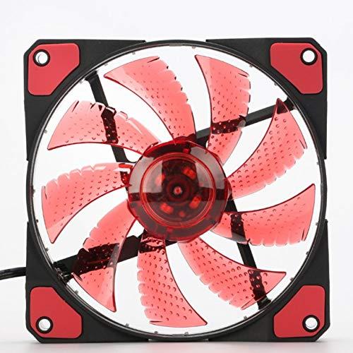 DBSUFV Ventilador de Caja de PC de Ordenador Ultra silencioso LED de 120mm 15 LED 12V con Conector Molex silencioso de Goma Ventilador de fácil instalación