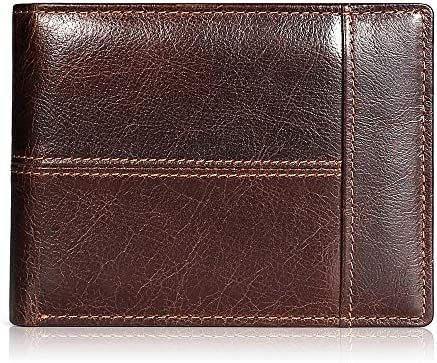 Mens Wallet Slim Genuine Leather RFID Thin Bifold Wallets For Men Minimalist Front Pocket ID product image