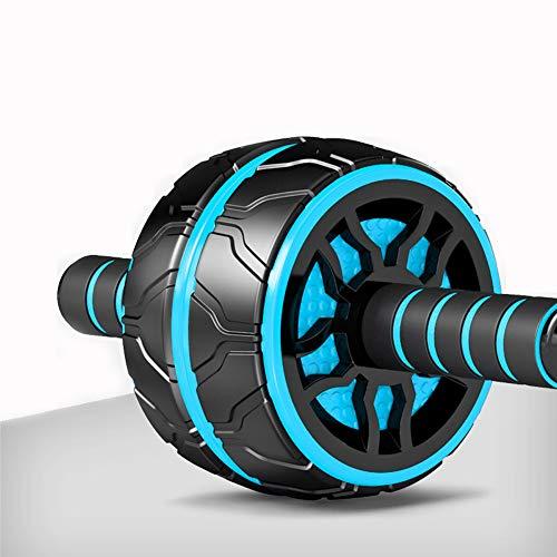ZFMG Rueda Fitness hipopresivos para Ejercicios Abdominal Aparato Entrenamiento Ejercicio Rodillo Antideslizante Resistente Desgaste Estable sin Ruido Unisex,Azul