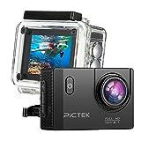 Action Kamera, [Verbesserte Version] pictek Unterwasser Kamera, Sport Kamera, Wasserdicht WiFi...