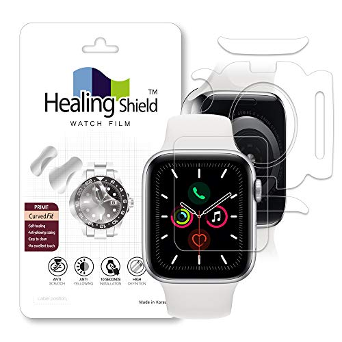 Ap.ple Watch 6/SE 40mm Curved fit Prime 1-Pack Front + 1-Pack Heart Rate Sensor Cover + 1-Pack Surface Protection Film_