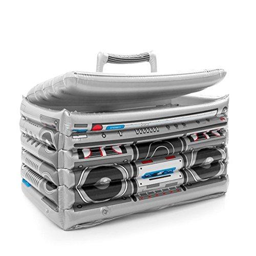 Eurowebb Koelbox, opblaasbaar, vintage radio, koelbox voor zwembad, zee, radio retro