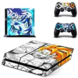 Homie Store PS4 Pro Skin - Ps4 Skins - Ps4 Slim Sticker - Anime Dragon Ball Z Goku PS4 Skin Sticker Decal for Sony Playstation 4 Console and 2 Controller Skin PS4 Sticker Vinyl Accessory