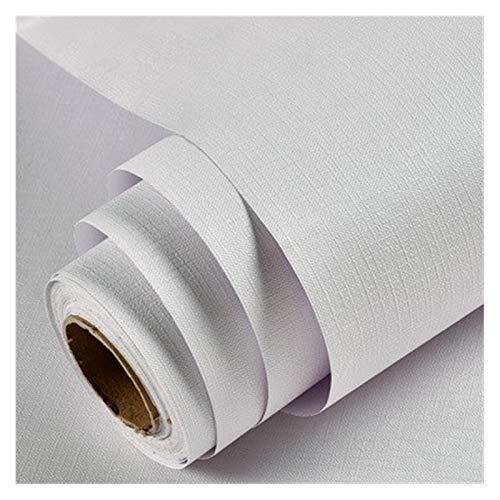WHYBH HYCSP Reine Farbe grau Tapete selbstklebend einfache Warmer Schlafsaal Schlafzimmerdekoration Garderobe Schreibtisch wasserdicht Aufkleber (Color : Macarons White, Size : 3mx60cm)