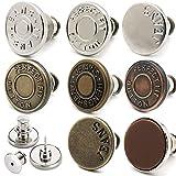 8 Alfileres de Botón de Ajuste Para Jeans, Alfileres de Botón de Jean Desmontables y Extraíbles, Pueden Aumentar o Disminuir la Cintura de Cualquier Pantalón en 1 Pulgada en Unos Pocos Segundos