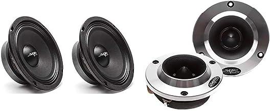 Skar Audio (2) FSX65-4 (2) FSX65-4 300-Watt 6.5-Inch 4 Ohm MID-Range Loudspeakers - 2 Speakers & Audio VX200-ST 1.8-Inch 4...