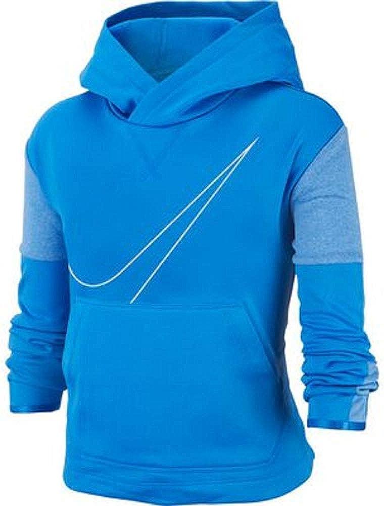 Nike Girl's Swoosh Pullover Hoodie BV2847-435 (M, Light Blue)