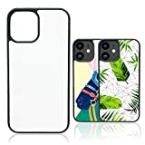 JUSTRY 10PCS Sublimation Blanks Phone Case Covers Compatible with Apple iPhone 12 Pro Max, 6.7-Inch (2020), Blank Printable Phone Case for DIY Customize Heat Press Soft Rubber Protective Slim Case