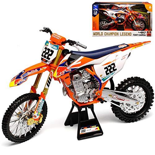 New Ray K-T-M 450 SX-F Tony Cairoli Nr 222 Red-Bull 2018 Supercross-WM Enduro 1/6 Modell Motorrad