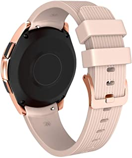 NotoCity 20mm Band Compatible Samsung Galaxy Watch 42mm Silicone Watch Band for Samsung Gear Sport/Garmin Vivoactive 3/Huawei 2 Smartwatch (Rose Gold, Small)