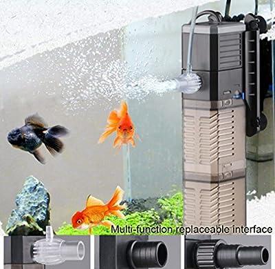 Réservoir de poissons Pompe à eau 3-en-1 Pompe submersible Pompe à eau pour réservoir de poissons 8W 20W 25W