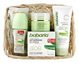 Babaria Crema Facial Antiarrugas 20% Aloe Vera de Manos y Desodorante Roll-On - 225 ml