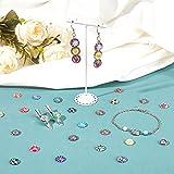 PandaHall Gemischte Farbe Bunt Runde Mosaik Kuppel Glas cabochons ca. 200 Stück, Größe 12×4 mm - 5