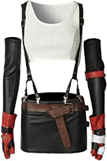Womens Final Fantasy Cosplay Costume Tifa Lockhart Full Set Suit