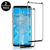 POOPHUNS 2 Unidades Vidrio Templado Samsung Galaxy S8 Plus, Protector Pantalla Samsung Galaxy S8 Plus [Funda Compatible] Cristal Templado con [Anti-Huella/Anti-Burbujas] [Premium 9H Definición]