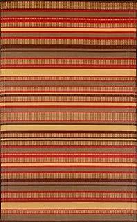 Mad Mats® Stripes Indoor/Outdoor Floor Mat, 6 by 9-Feet, Warm Brown