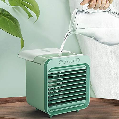 Dastrues Rechargeable Water-Cooled Air Conditioner Adjustable Speed Desktop Cooling Fan Air Cooler for Summer Home