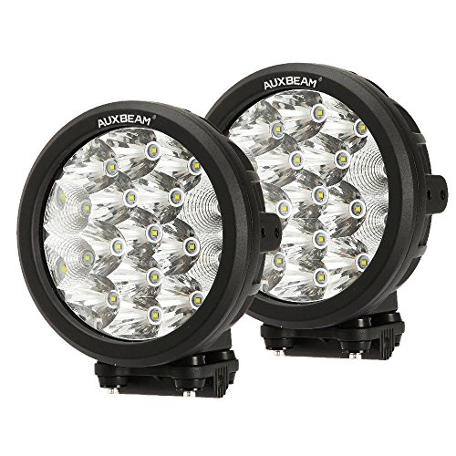 Auxbeam 2Pcs 7' Round LED Driving Lights 80W LED Off-Road Light Bar 8000lm Combo Beams for Truck ATV UTV Golf Cart Lighting Pickup Offroad Vehicle Work Lights