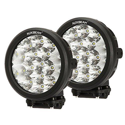 "Auxbeam 2Pcs 7"" Round LED Driving Lights 80W LED Off-Road Light Bar 8000lm Combo Beams for Truck ATV UTV Golf Cart Lighting Pickup Offroad Vehicle Work Lights"