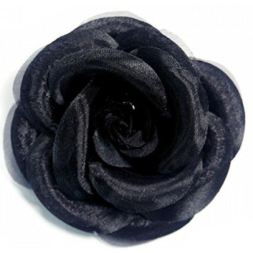 M & C - Broche de flor negra camelia