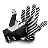 Hail Mary American Football Handschuhe Gloves Receiver Empfänger 2.0 Black & White Edition (M)