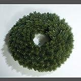 mucplants Künstlicher Edeltannenkranz Grün Tannenkranz 48 cm Rund Gebunden Künstlicher Kranz