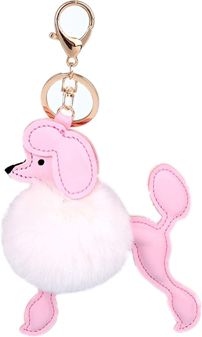 Cute Fluffy sold out Poodle Puppy Faux Fur Key SEAL limited product Pom Accesso Bag Chains