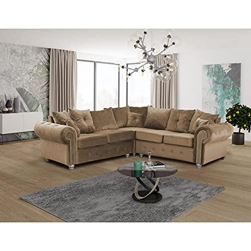Modern Beige Suede Fabric Corner Sofa for Sale-Sofa Set -Extra Large Sofa Bed Cheap Corner Sofa-Garden Corner Sofa-Sofas Rooms Furniture