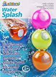 alldoro 60206 - Water Splash 3er Set Wasserbomben, Wasserballons wiederverwendbar &...