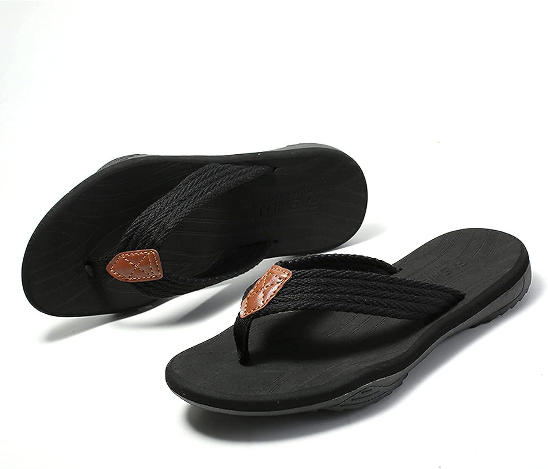Men's Flip Flops Sandals Men with Arch Support Beach House Slippers Non-Slip Shower Slides