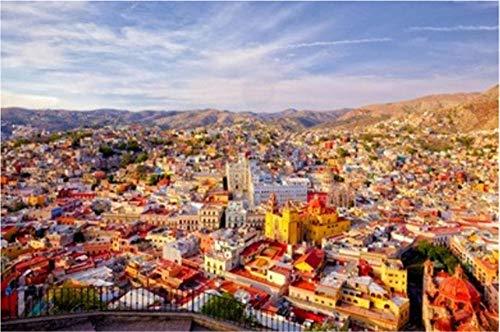 Rompecabezas para Adultos como Regalo DIY Esta Colorida Ciudad Histórica En El Centro De México Está Llena De Alegría Y Patrimonio Rompecabezas De 1000 Piezas