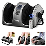 TISSCARE Foot Massager Machine with Heat and Remote, Shiatsu Foot...