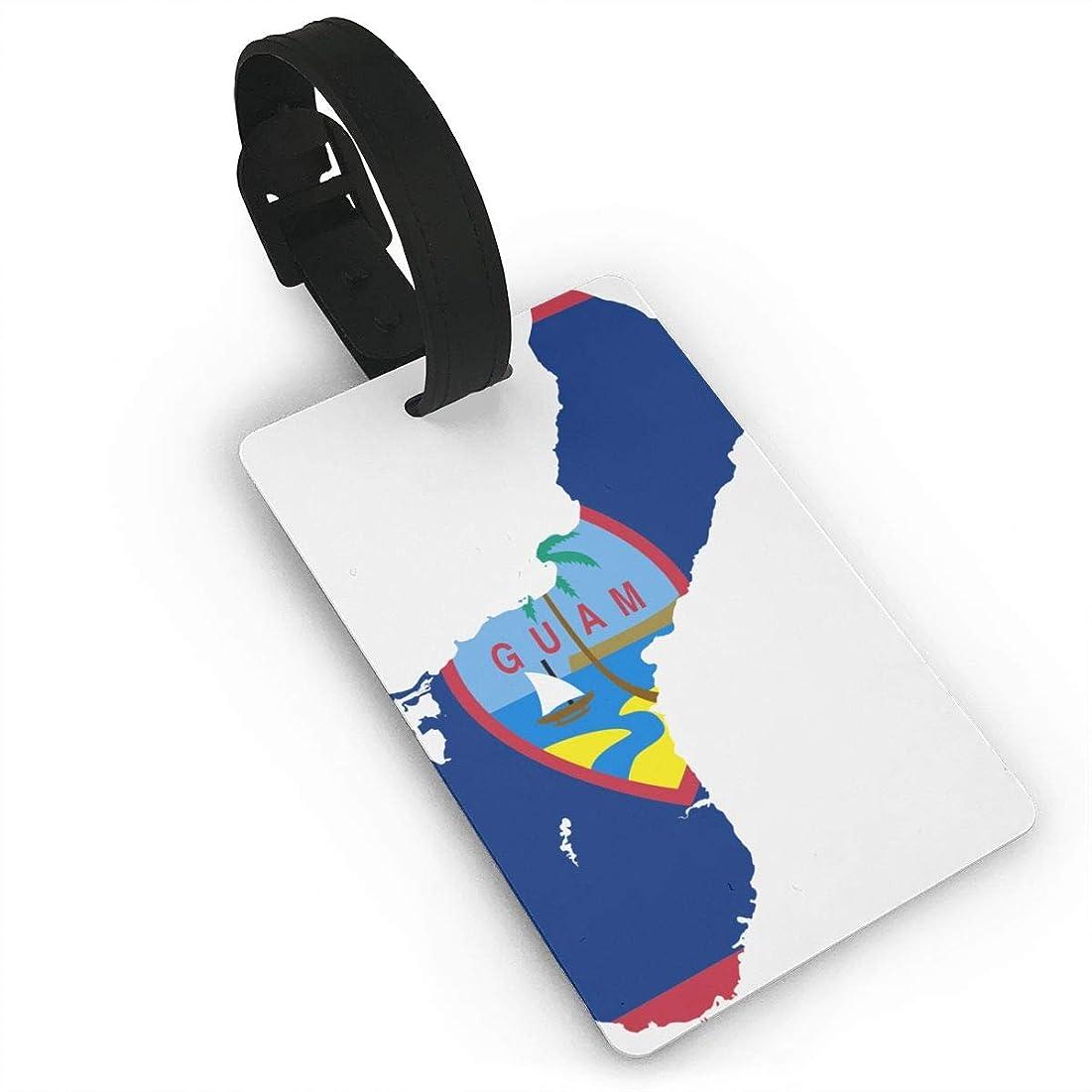 パーツ選挙増幅グアムの国旗地図 ラゲージタグ 旅行荷物タグ 便利グッズ PVC 出張用タグ 番号札 旅行用品 紛失防止 軽量 カバン装飾 便利