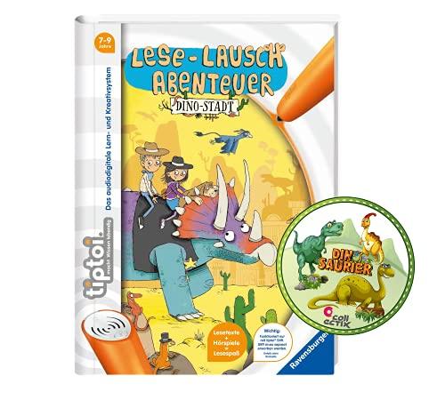 Collectix Ravensburger tiptoi - Libro de lectura, diseño de dinosaurio y pegatinas para niños, a partir de 7 años