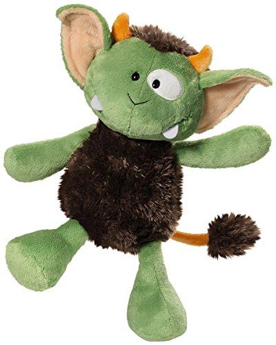 NICI 37632 - Monster Jipii Schlenker, 15 cm, grün/braun