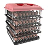 AQAWAS Egg Incubator with Humidity Control, Poultry Hatcher Portable Dual Power, Air Incub...